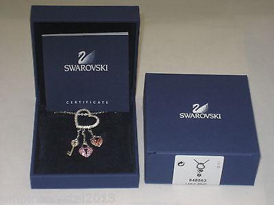 Swarovski Pink Heart Lock (Swarovski Pink Heart Lock Pendant (NEW) )