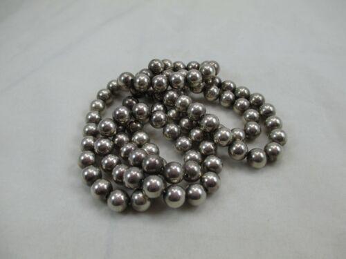 99 Sterling Silver Ball Bench Beads 10.3mm 126 grams REPAIR BROKEN CHAIN 463E