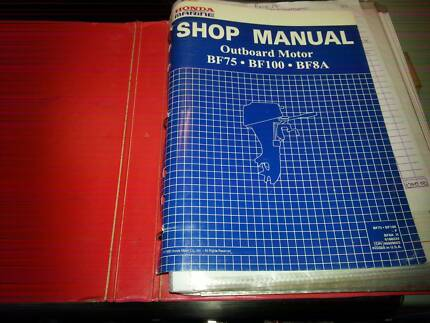 HONDA OUTBOARD WORKSHOP MANUUAL BF75 BF100 BF8A