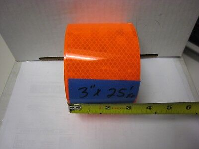 3m Brand Neon Orange Reflective  Conspicuity Tape 3 X 25 Feet Very Thick