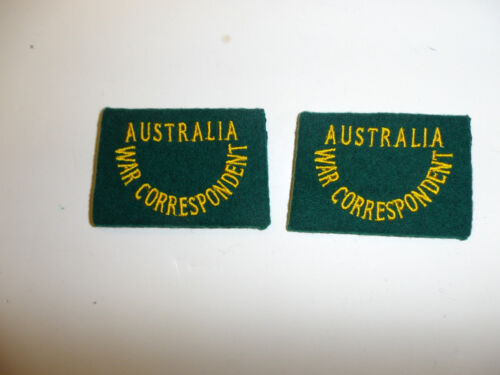 c0049 WW 2 Civilian Australia War Correspondent Shoulder slip on pair R10B
