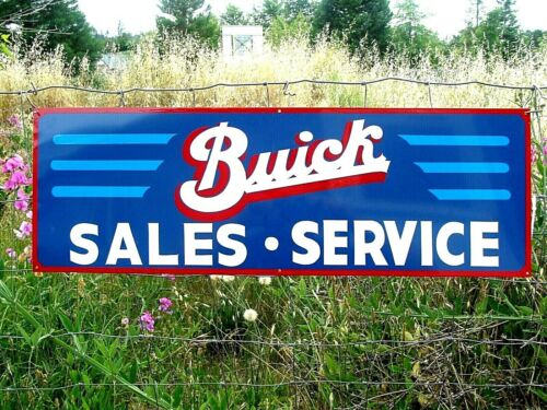 Vintage Metal Antique Style BUICK Pontiac Service Gas Oil Hand Painted Olds Sign