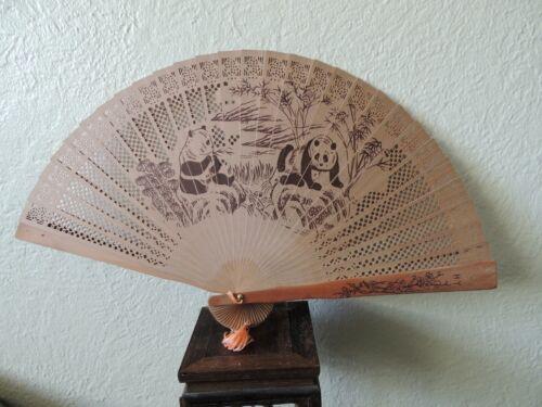 Vintage  fan with Panda
