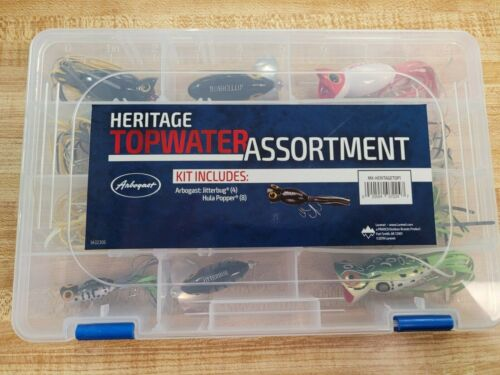 12 Arbogast Jitterbug Hula Popper Heritage Top Water Fishing Lure Assortment New