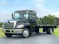 2013 HINO 258 DIESEL 1-OWNER 2-CAR TOW TRUCK ROLLBACK ONLY 46K MILES BUY IT NOW
