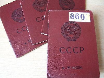 Ersatzausweis Genehmigung Reisepass Pass Ausweis UdSSR Passport паспорт СССР