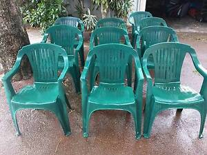 10 X PLASTIC CHAIRS - ALL IN GOOD CONDITION Willagee Melville Area Preview