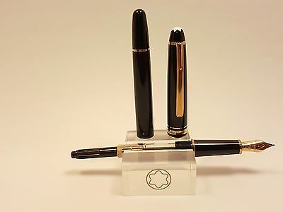 Vintage Montblanc Meisterstuck 144 Fountain Pen 14K Solid Gold NIB, CONVERTER
