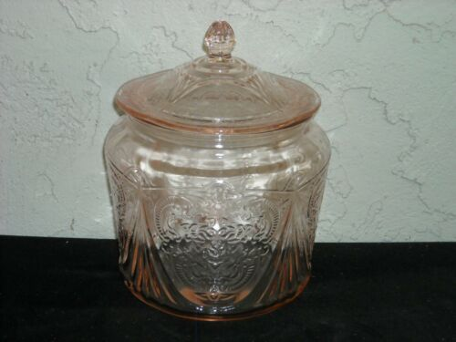 Royal Lace Cookie Jar  Pink