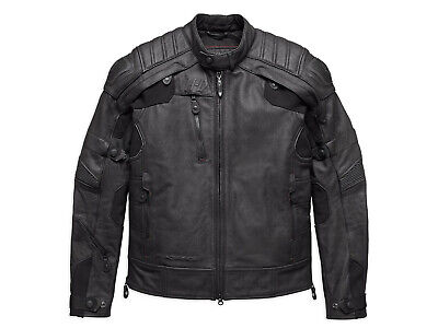 Harley Davidson Mens FXRG Gratify Skull Coolcore Leather Jacket L XL 98051-19VM