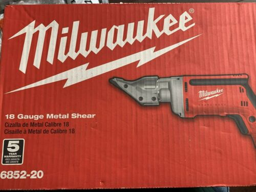 Milwaukee 6852-20 Corded 6.8 Amp Electric 18-Gauge Metal Shear