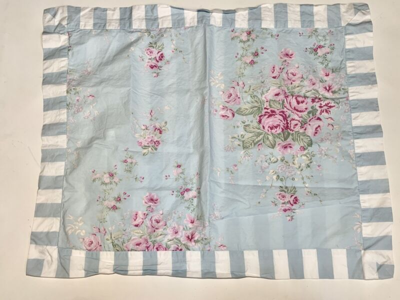 Target Simply Shabby Chic BELLA Floral Rose Blue Pink Twin Decorative Sham