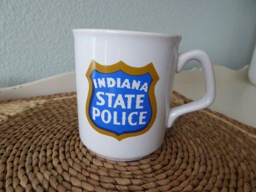 Vintage INDIANA STATE POLICE Coffee Mug Emblem Badge Shield England Made
