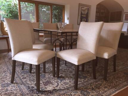 Designer white dining chairs x6 dining chairs gumtree australia affordable dining chairs malvernweather Gallery