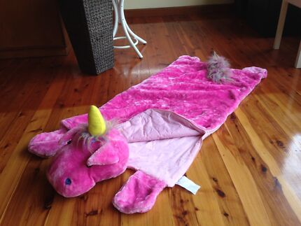 Virtually new pink fluffy unicorn sleeping bag Freshwater Manly Area Preview