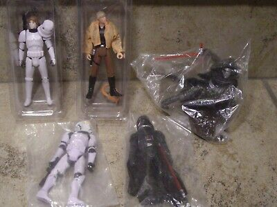 Star Wars Action Figure Lot of (5) Un-played Cond. Luke Stormtrooper, Vader, Ren