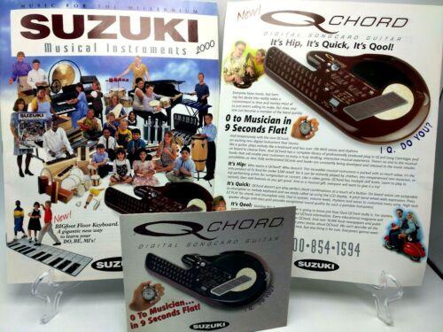 Suzuki 2000 Catalog and QChord QC-1 advertising / sales brochure - literature