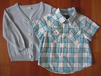 Jungen Hemd (L.O.G.G.) und Pullover (von Schiesser) in Hellblau, Gr. 86 ()