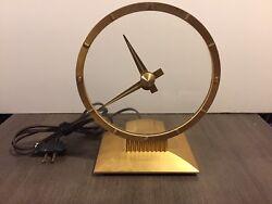Jefferson Golden Hour Mystery Clock Streamline Vintage