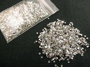 1000 Round Clear Crystal 1.5mm 3D Nail Art Gems Rhinestone Diamante Diamonds