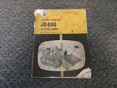 John Deere 450 Crawler Dozer Loader Owner Operator Manual Omt26334