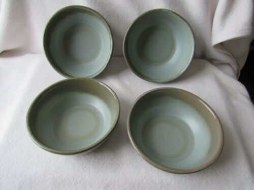 Set 4 Vintage FRANKOMA Art Pottery Prairie Green - Blue 6XL Large  Bowls