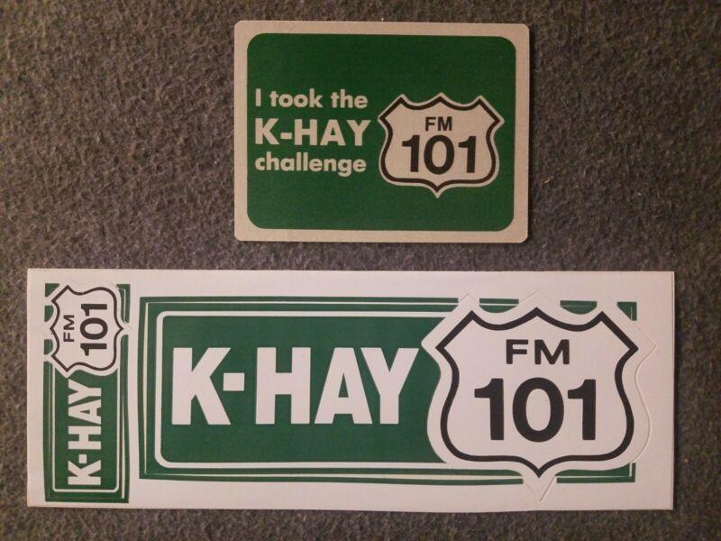 K-HAY FM 101 Radio Station Sticker Ventura, Ca