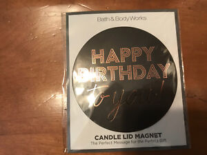 Bath & Body Works large candle magnet #3