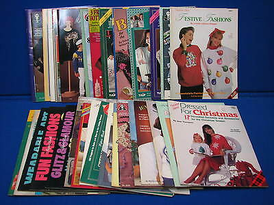 Crafts Book LOT Clothing Holiday Jewelry Making Patterns Garmets Fashion Show ++