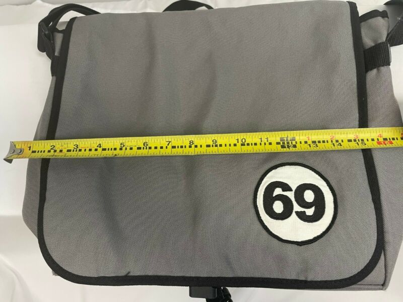 Rare DJ Vinyl Record Tote Bag with 69 Patch on Front