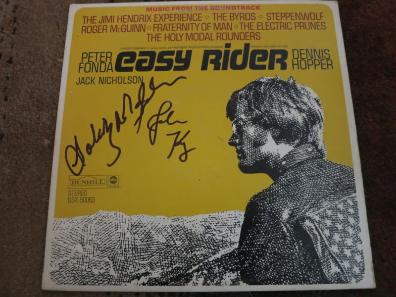 JOHN KAY SIGNED STEPPENWOLF LP BY 2 EXACT PROOF! COA EASY RIDER GOLDY MCJOHN
