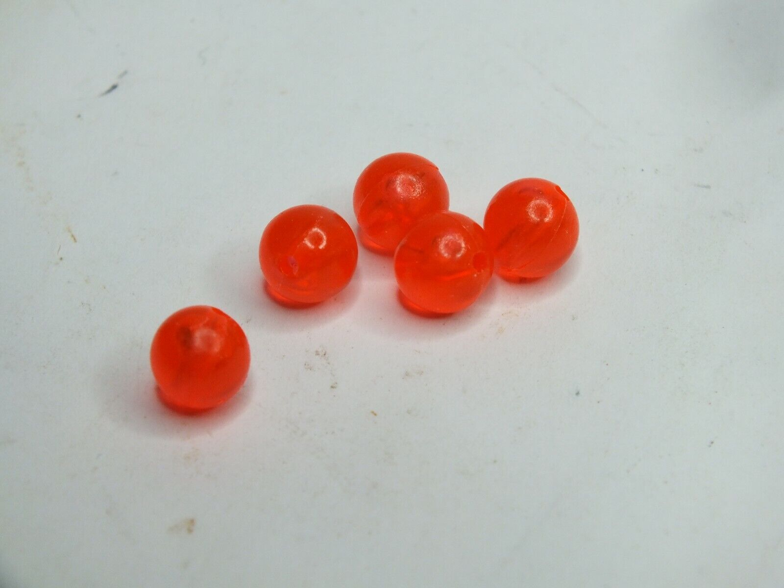 Fire Red 8mm Round Beads 200 For Crafts Fishing Jewelry - $6.47
