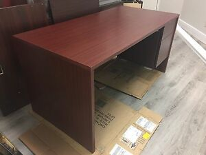 Office desk with a free bookshelf