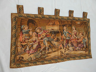 Vintage French Beautiful Romantic Scene Tapestry Wall Hanging 97x56cm T407