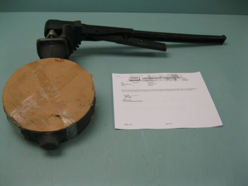 """6"""" 300# Crane Flowseal Wafer 3WA-121RTG Butterfly Valve WCB x SS NEW P17 (2493)"""