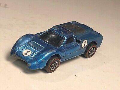 Original 1968 Hot Wheels Redline Ford J Light Blue Car USA early 68 rare color