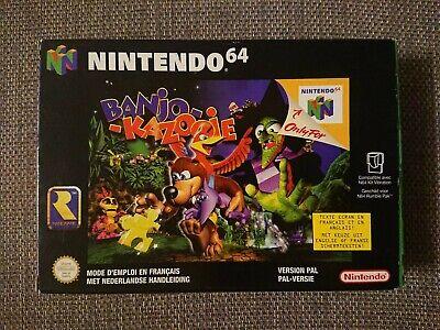 Banjo-Kazooie Nintendo 64 N64 European Version France Netherlands COMPLETE CIB