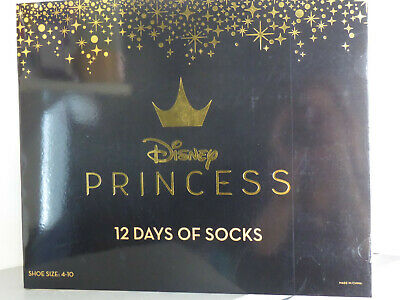 Disney Princess 12 Days of Socks Advent Calendar Girls * Fits Shoe Size 4-10*
