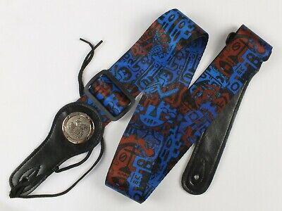 Correa de Guitarra Azul Grafiti Temática Diseño Eléctrico, Bajo O Acústico