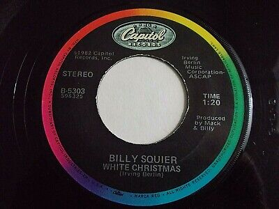 Billy Squier White Christmas / Christmas Is The Time To Say I Love Vinyl Record ()