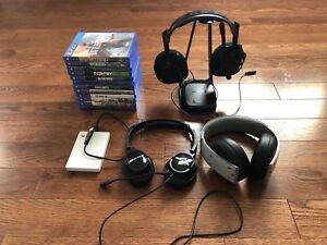PS4 GAMES & HEADSETS FOR SALE!