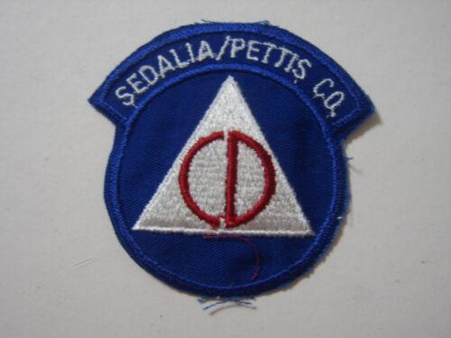 SEDALIA/PETTIS COUNTY MISSOURI CIVIL DEFENSE PATCH NOS :KY21-1