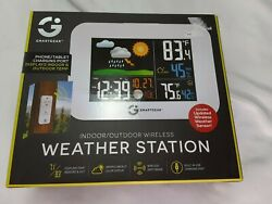 Smart Gear indoor Outdoor Wireless Weather Station Alarm Clock  STG-5939-KB
