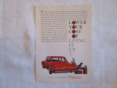 Plymouth Valiant Print Ad Collection 1960 - 1963 Seven Ads