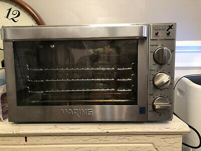 Waring 500x Half-size Commercial Convection Oven Counter 3 Rack Bake Roast Broil