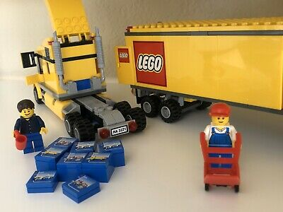 LEGO City Classic Yellow Semi Cargo Truck 3221 Trailer Adult Owned 100% COMPLETE