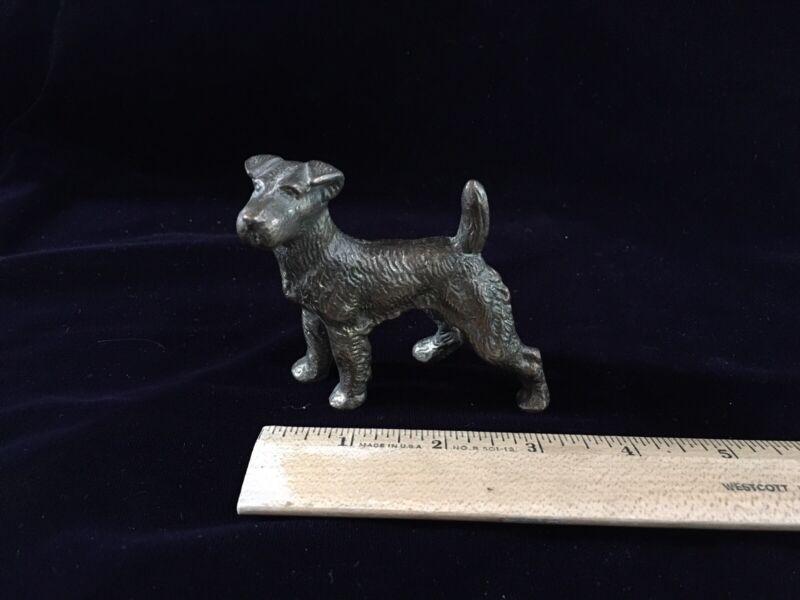 Fox Terrier - Bronze Dog Sculpture / Paperweight - Jack Russell