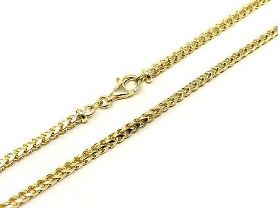 """14k Yellow Gold Solid Franco Chain Necklace 22"""" 3mm 34 grams"""