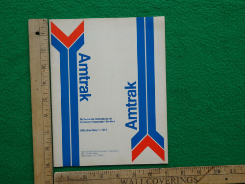 Amtrak Public Timetable May 1 1971 First Issue