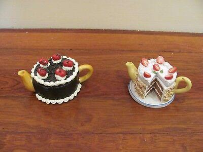 miniature ceramic cake tea pot